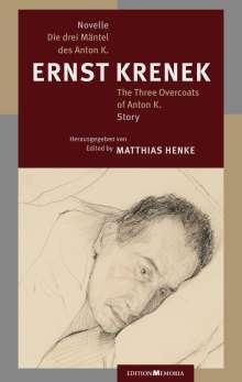 Ernst Krenek: Die drei Mäntel des Anton K., Buch