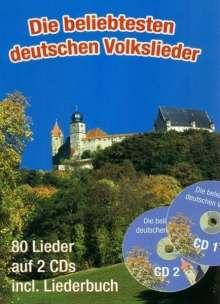 Die beliebtesten deutschen Volkslieder (A5 mit CDs), Noten