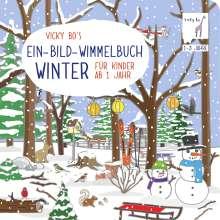 Vicky Bo: Vicky Bo's Ein-Bild-Wimmelbuch für Kinder ab 1 Jahr - Winter, Buch