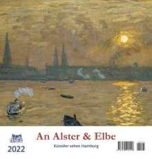 An Alster und Elbe 2022 Postkartenkalender, Kalender