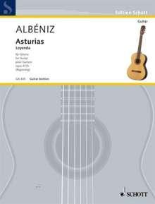 Isaac Albeniz: Asturias, Noten