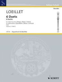 Jean Baptiste Loeillet de Gant: 6 Duets, Noten