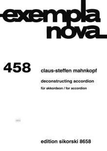 Claus-Steffen Mahnkopf: Deconstructing Accordion für Akkordeon, Noten
