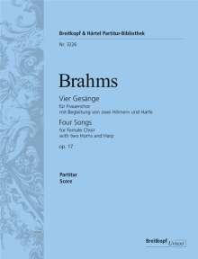 Johannes Brahms: Vier Gesänge op. 17, Noten