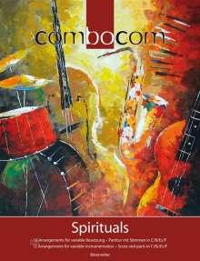 Combocom Spirituals, Partitur mit Stimmen in C/B/F/Es, Noten