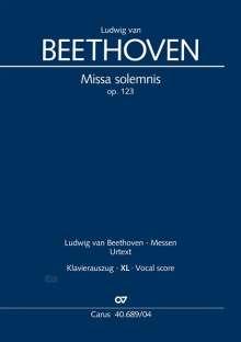 Ludwig van Beethoven: Missa solemnis (Klavierauszug XL), Noten