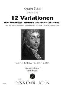 Anton Eberl: 12 Variationen für Klavier zu zwei Händen w.o.n. 4, Noten