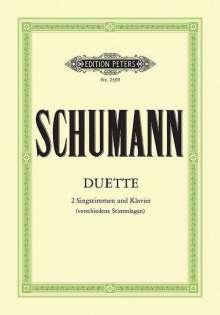Robert Schumann: 34 Duette, Noten