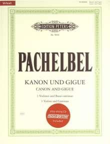 Johann Pachelbel: Kanon und Gigue für 3 Violinen und Basso continuo, Noten