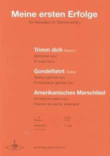 Alfons Holzschuh: Meine ersten Erfolge, Noten