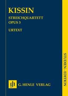 Evgeny Kissin: Streichquartett op. 3 SE, Noten