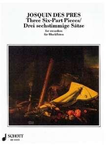 Josquin Desprez: 3 Stücke, Noten