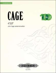 John Cage: 4'33'', Noten
