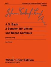 Johann Sebastian Bach: 2 Sonaten G-Dur/e-Moll BWV 1021, 1023, Noten