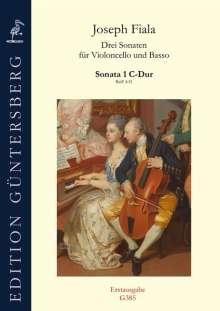Joseph Fiala: Drei Sonaten für Violoncello und Basso ReiF 4.31 (ca 1890), Noten