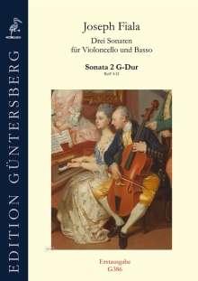 Joseph Fiala: Drei Sonaten für Violoncello und Basso ReiF 4.32 (ca 1890), Noten
