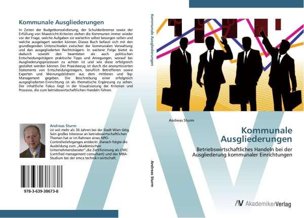 Andreas Sturm: Kommunale  Ausgliederungen